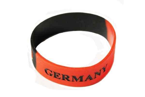 GERMANY Black Red, Country Flag With EAGLE SILICONE BRACELET WRISTBAND