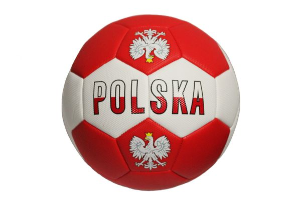 POLSKA POLAND With EAGLE Red White SOCCER BALL SIZE 5