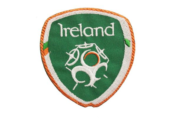 """IRELAND FIFA World Cup EMBROIDERED IRON ON PATCH CREST BADGE .. SIZE : 2.9"""" X 3"""" Inch"""