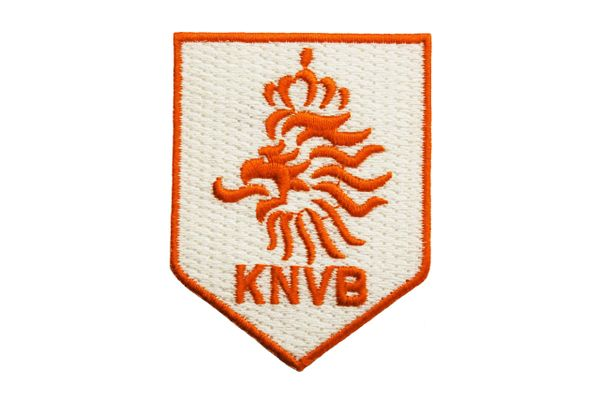 "NETHERLANDS KNVB Logo FIFA World Cup EMBROIDERED IRON ON PATCH CREST BADGE .. SIZE : 1.9"" X 2.5"" Inch"