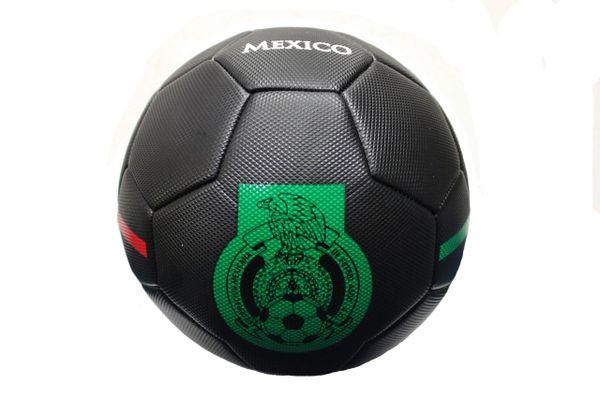 MEXICO - Flag SOCCER BALL, BLACK ..Size 5