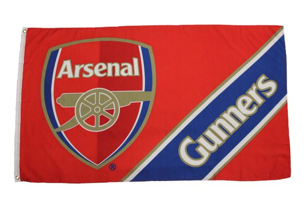 ARSENAL - RED WITH CLUB LOGO 3 X 5 FEET FLAG BANNER ... NEW