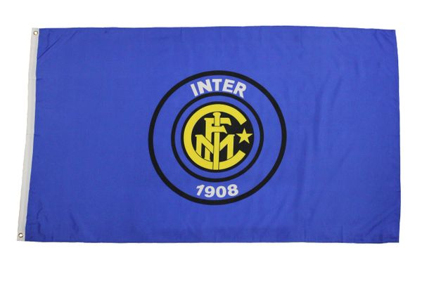 INTER MILAN - BLUE WITH CLUB LOGO 3 X 5 FEET FLAG... NEW