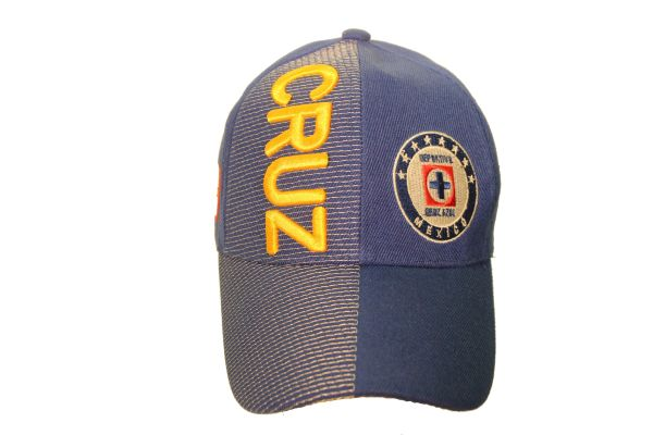 CRUZ DEPORTIVO ( Mexico Country Flag ) Soccer Team Logo EMBOSSED HAT CAP.