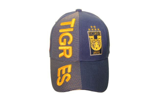 TIGRES UANL ( Mexico Country Flag ) Soccer Team Logo EMBOSSED HAT CAP