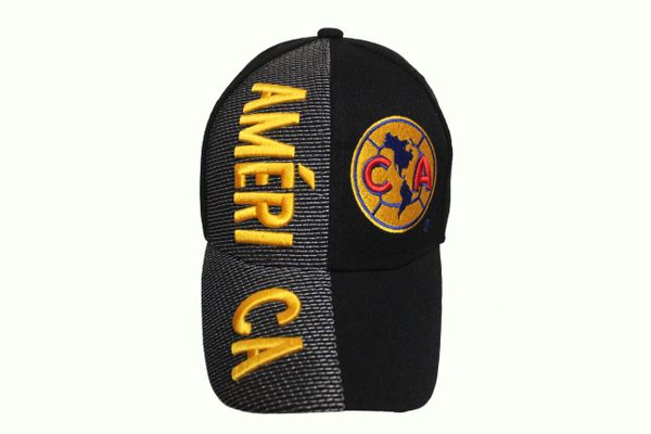 CLUB AMERICA ( Mexico Country Flag ) Soccer Team Logo EMBOSSED HAT CAP
