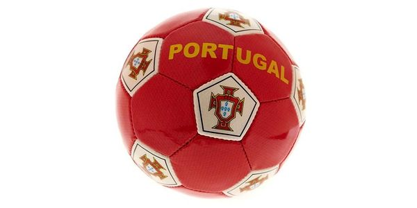 PORTUGAL RED FPF LOGO FIFA WORLD CUP SOCCER BALL SIZE 5 .. NEW AND IN A PACKAGE