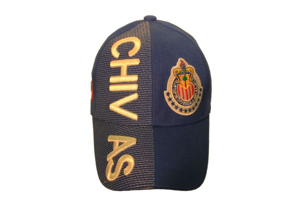 CHIVAS ( Mexico Country Flag ) Soccer Team Logo EMBOSSED HAT CAP