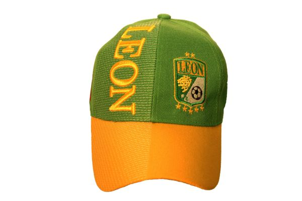 LEON ( Mexico Country Flag ) Soccer Team Logo EMBOSSED HAT CAP.