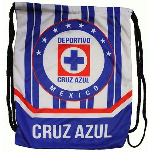 "CRUZ AZUL DEPORTIVO ( Mexico ) Soccer Team DRAWSTRING KNAPSACK BAG .. Size : 14"" X 18"" Inch"
