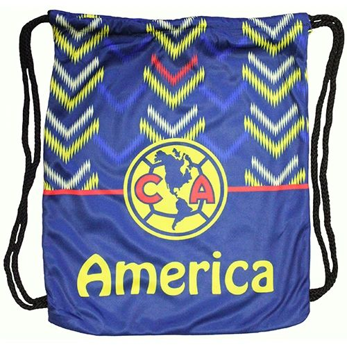 "CLUB AMERICA ( Mexico ) Soccer Team DRAWSTRING KNAPSACK BAG .. Size : 14"" X 18"" Inch"