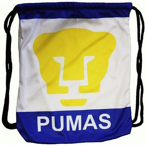 "PUMAS ( Mexico ) Soccer Team DRAWSTRING KNAPSACK BAG .. Size : 14"" X 18"" Inch"