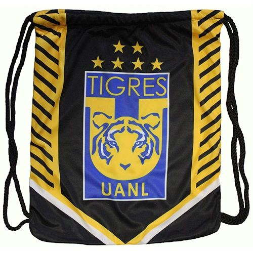 """TIGRES UANL ( Mexico ) Soccer Team DRAWSTRING KNAPSACK BAG .. Size : 14"""" X 18"""" Inch"""