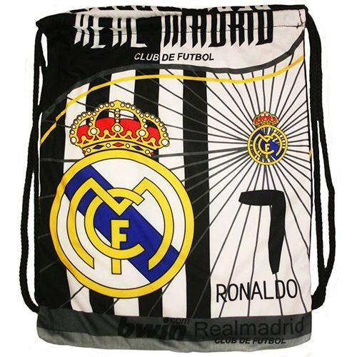 REAL MADRID Soccer Team Logo DRAWSTRING KNAPSACK BAG