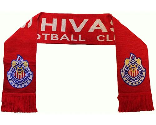 CHIVAS FOOTBALL CLUB ( Mexico ) Soccer Team Logo THICK SCARF