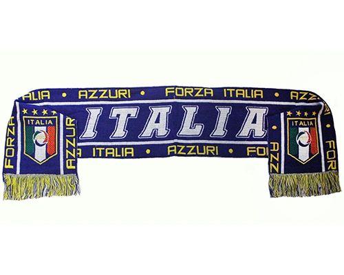 AZZURI FORZA , FIGC Logo , 4 Stars Soccer Team Logo THICK SCARF