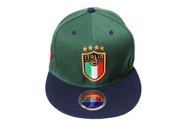 ITALIA Country Flag , 4 Stars , FIGC Logo SNAPBACK Embroidered HIP HOP Hat Cap
