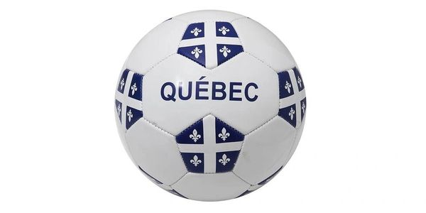 QUEBEC WHITE PROVINCIAL FLAG SOCCER BALL SIZE 5 .. NEW AND IN A PACKAGE