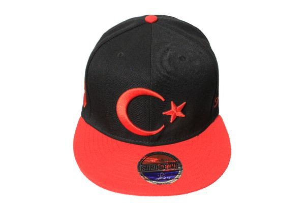 TURKEY Country Flag With Logo SNAPBACK Embroidered HIP HOP Hat Cap