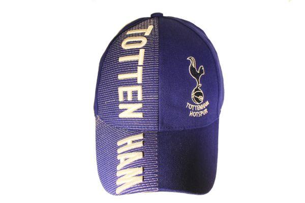 TOTTENHAM BLUE WITH LOGO SOCCER EMBOSSED HAT CAP .. NEW