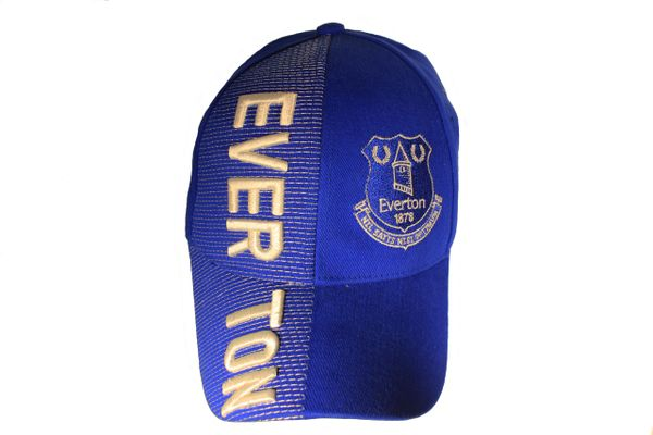 EVERTON Soccer Team With Logo Embossed HAT CAP