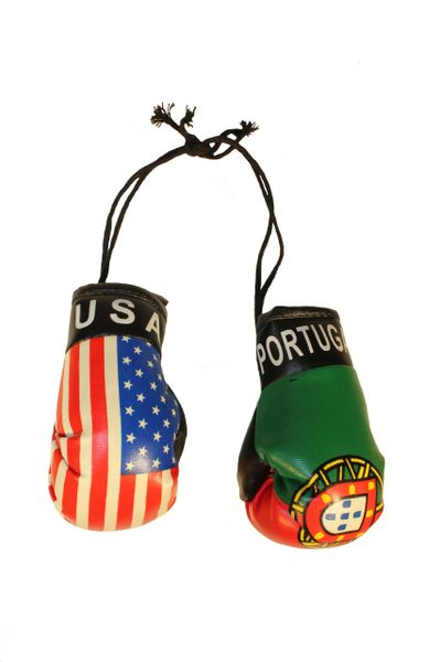 USA & PORTUGAL Country Flags Mini BOXING GLOVES