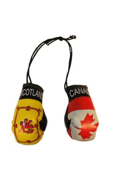 CANADA & SCOTLAND Lion Rampant Country Flags Mini BOXING GLOVES