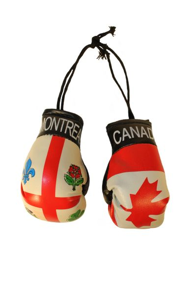 CANADA & MONTREAL City Flags Mini BOXING GLOVES