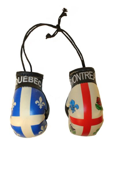 QUEBEC & MONTREAL City Flags Mini BOXING GLOVES