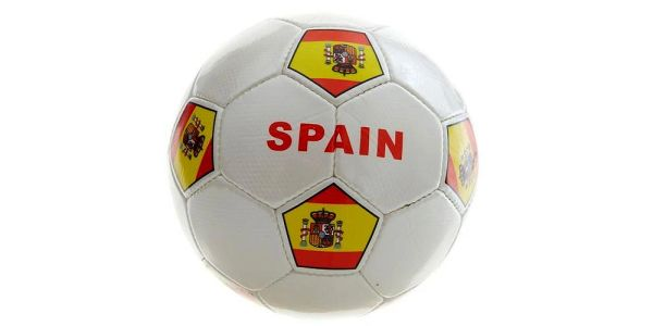 SPAIN WHITE COUNTRY FLAG SOCCER BALL SIZE 5 .. NEW AND IN A PACKAGE