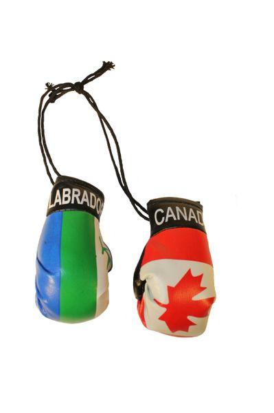 CANADA & LABRADOR CANADA Provincial Flags Mini BOXING GLOVES