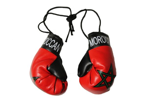 MOROCCO Country Flag Mini BOXING GLOVES
