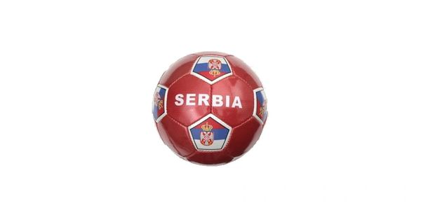 SERBIA RED COUNTRY FLAG SOCCER BALL SIZE 5 .. NEW AND IN A PACKAGE
