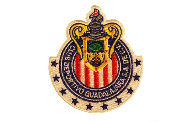 "CHIVAS CLUB DEPORTIVO GUADALAJARA S.A. DEC.V. ( Mexico ) Embroidered Iron - On PATCH CREST BADGE .. Size : 3"" x 3.5"" Inch"