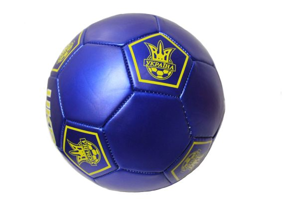 UKRAINE Blue With Trident SOCCER BALL ...Size : 5