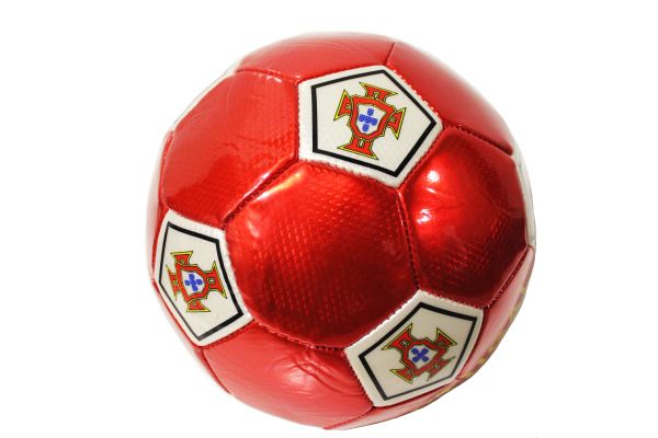 PORTUGAL Red F.P.F. Logo SOCCER BALL ...Size : 5