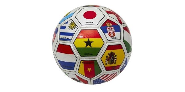 WORLD FLAG INTERNATIONAL SOCCER BALL SIZE 5 .. NEW AND IN A PACKAGE