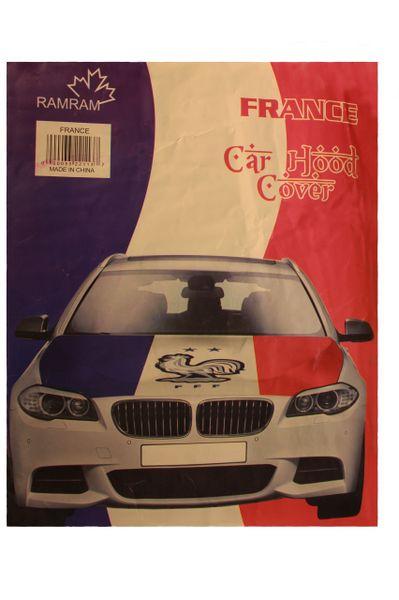 FRANCE Country Flag , 2 Stars , FFF Logo CAR HOOD COVER