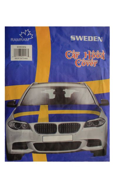 SWEDEN Country Flag CAR HOOD COVER