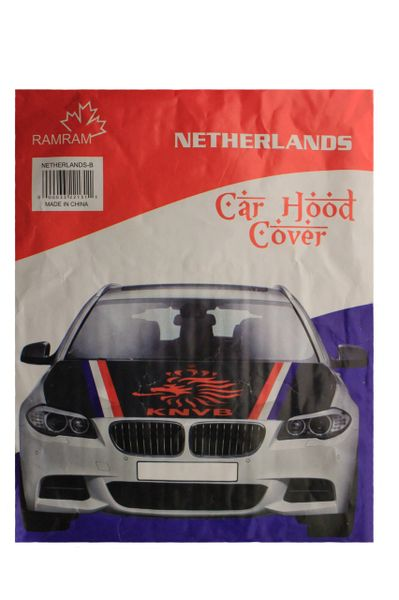 NETHERLANDS Country Flag , ORANGE KNVB Logo CAR HOOD COVER