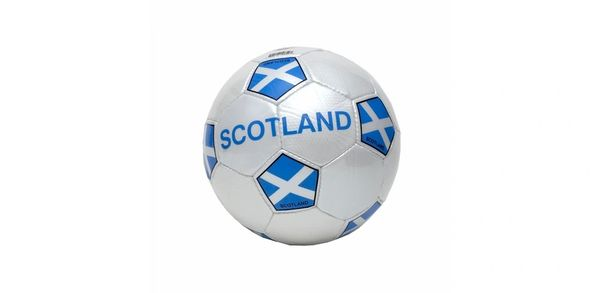 SCOTLAND WHITE COUNTRY FLAG FIFA WORLD CUP SOCCER BALL SIZE 5 .. NEW AND IN A PACKAGE