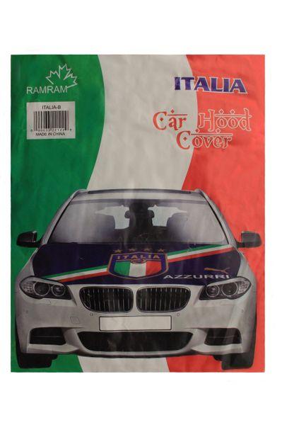 ITALIA ITALY Country Flag , 4 Stars , FIGC Logo , AZZURRI CAR HOOD COVER