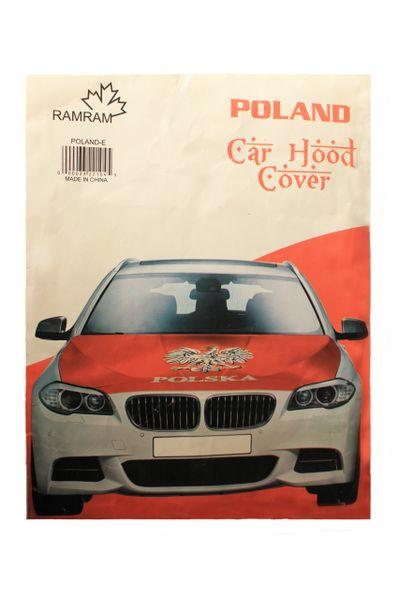 POLAND With EAGLE Country Flag CAR HOOD COVER