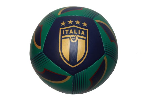 ITALIA ITALY Green With Colored Stripe , 4 Stars , FIGC Logo SOCCER BALL ...Size : 5