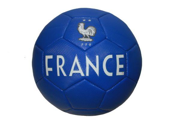 FRANCE Blue , 2 Stars , FFF Logo SOCCER BALL ...Size : 5
