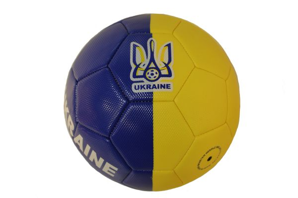 UKRAINE With TRIDENT BLUE - YELLOW SOCCER BALL