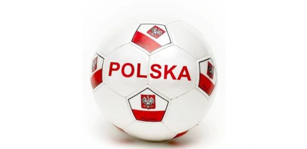 POLSKA POLAND WHITE COUNTRY FLAG FIFA WORLD CUP SOCCER BALL SIZE 5 .. NEW AND IN A PACKAGE