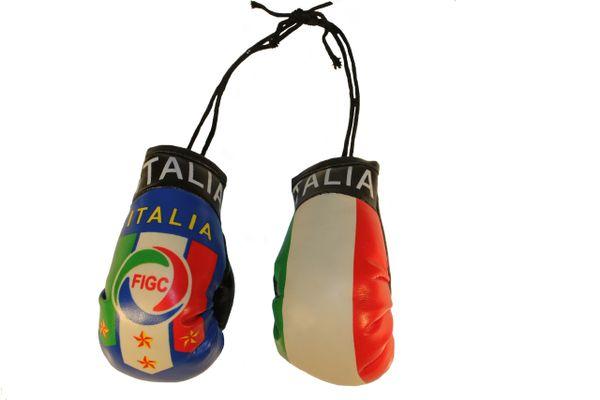 ITALIA ITALY 4 Stars , FIGC Logo & Country Flags Mini BOXING GLOVES