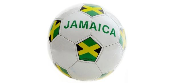 JAMAICA WHITE COUNTRY FLAG FIFA WORLD CUP SOCCER BALL SIZE 5 .. NEW AND IN A PACKAGE