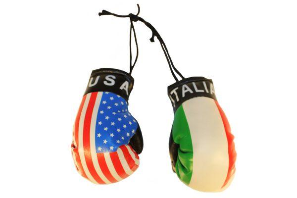 USA & ITALIA ITALY Country Flags Mini BOXING GLOVES